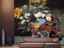 르누아르 - 질그릇 병의 혼합꽃