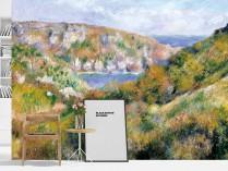 르누와르 - 건지섬 바위 절벽 주변의 언덕