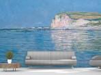 모네 - 바다위의 그림자, 푸르빌의 절벽에서