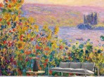 모네 - 베퇴이유 꽃 들판