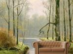 나무사이 흐르는 강물