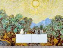 고흐 - 올리브나무와 노란하늘 그리고태양